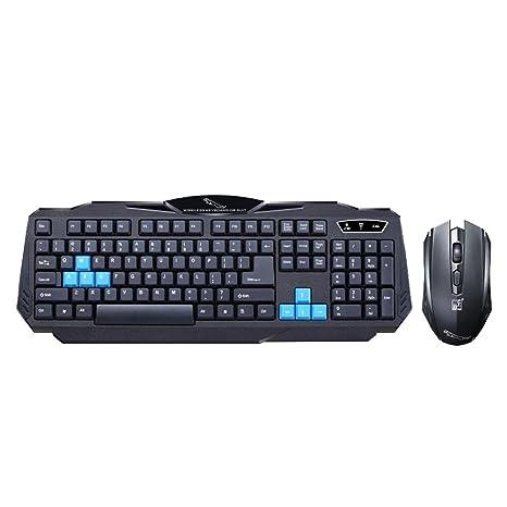 Juego de teclado inalámbrico para ratón con protección solar y salpicaduras - Asiproper