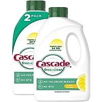 Cascade Free & Clear Gel Dishwasher Detergent Liquid Gel, Lemon Essence, 2 Count (60 fl oz ea) (. 0 1 Pack of 2)
