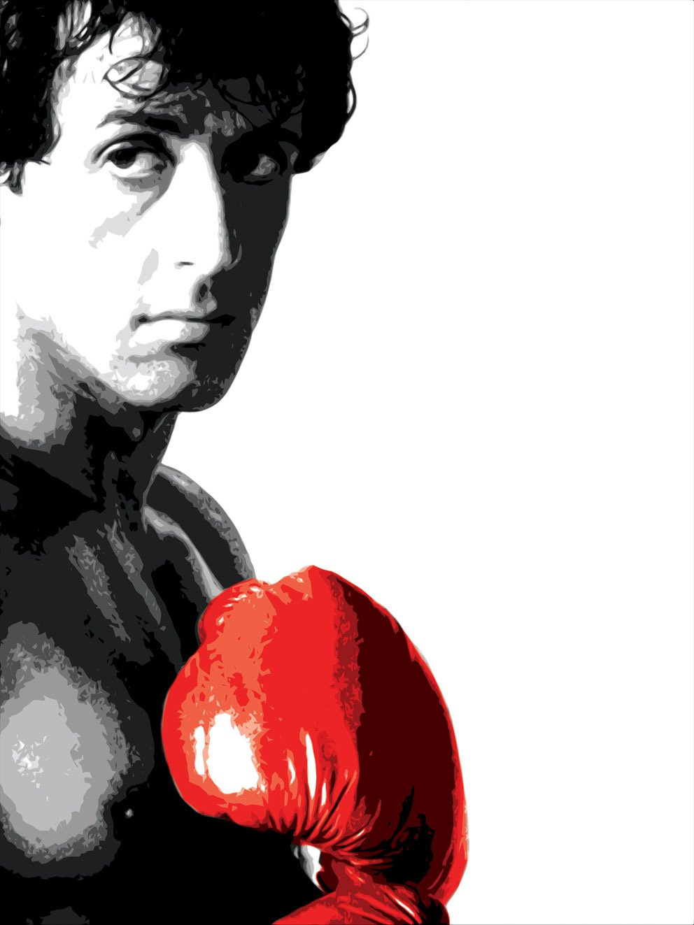 Rocky Balboa Red Glove MOVIE Pop Art Poster A2: Amazon.co.uk ...