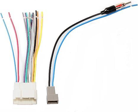REDWOLF Conector de arnés de cableado + Adaptador de Antena para conectar el Receptor de Radio estéreo de posventa para Honda Accord Acura MDX Civic ...