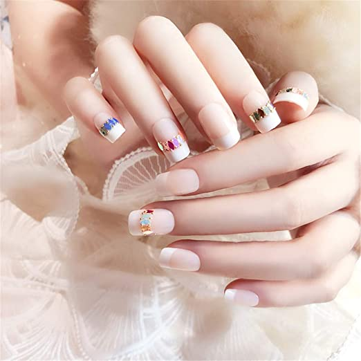 MENILITHS - 24 uñas postizas de uñas postizas para manicura ...
