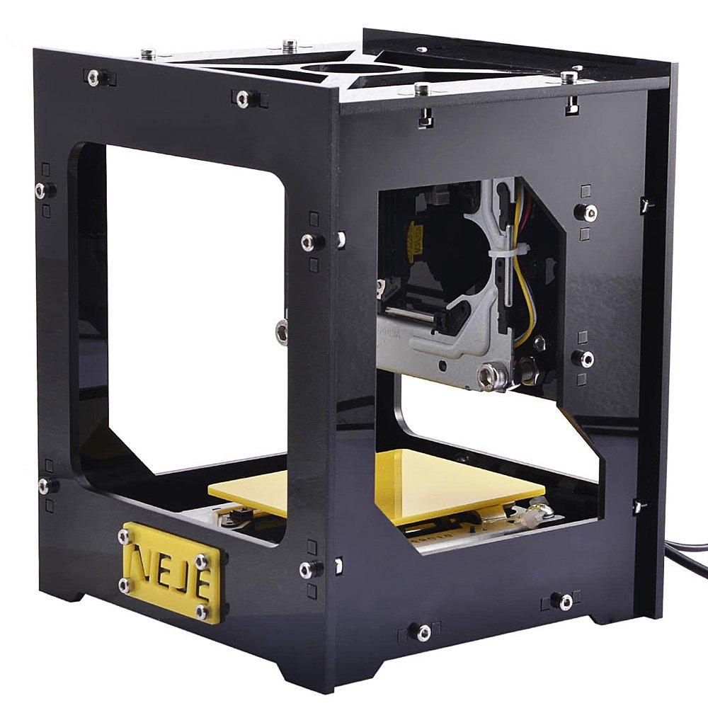 EARME NEJE Fancy Laser Engraving Printer, Art Craft Science Industry DIY Laser Cutter 5V 300mW USB Mini Carving Machine for Wood, Plastic