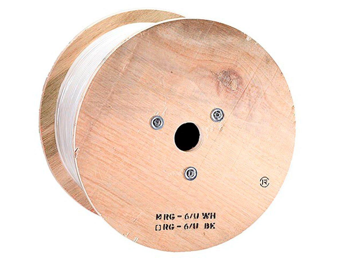 Monoprice 500ft RG6Q Coax Cable PVC ETL White