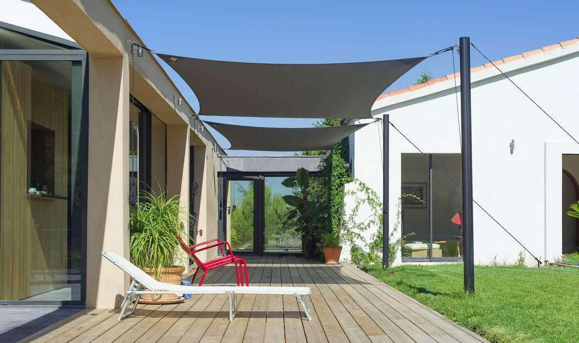 Kit de Accesorios para paraíso de Patio y toldo para la instalación de Sombra de Sol.: Amazon.es: Jardín