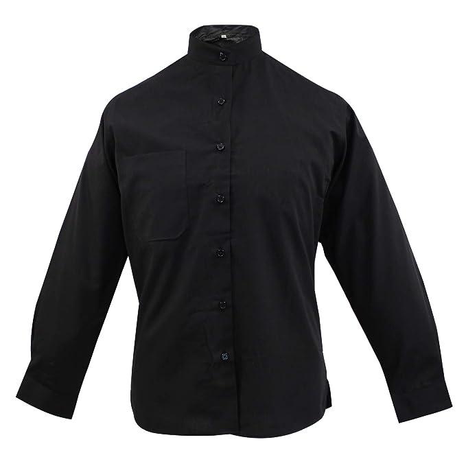 4415d21a9a MISEMIYA - Camisa Uniforme Camarera SEÑORA Cuello Mao Mangas LARGAS MESERO  DEPENDIENTA Barman COCTELERA PROMOTRORAS - Ref.8271  Amazon.es  Ropa y  accesorios
