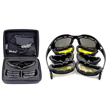 5c940e52a525 Amazon.com: Mangocore New Polarized Army Goggles, Military Sunglasses 4 Lens  Kit, Men's War Game Tactical Glasses Outdoor Sports Set of 9 (BLACK):  Kitchen & ...