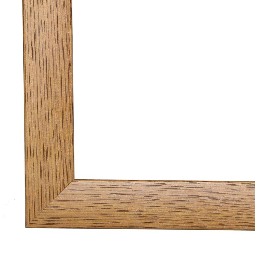 Cornice, Cornici dei quadri, portafoto OLIMP, 90x130 cm o o o 130x90 cm in ROVERE RUSTICO, normale vetro artificiale (A-Pet), senza antiriflesso cornice in MDF rivestiti di un foglio decorativo, 35 mm di larghezza 7c260f