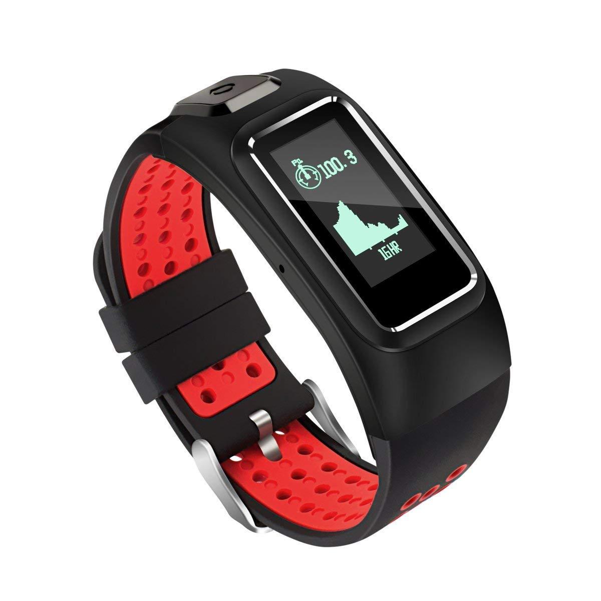 C-Xka Pulsera inteligente con posicionamiento de la frecuencia cardíaca por GPS Monitor de frecuencia cardíaca. Contador de pasos impermeable. Recordatorio del teléfono para caminar, correr, ciclismo, XXN