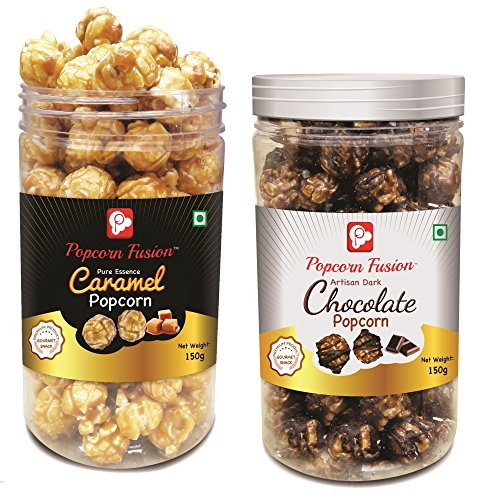 Popcorn Fusion Caramel & Chocolate Popcorn 2 Jars for Munching (B078TQJ96T) Amazon Price History, Amazon Price Tracker