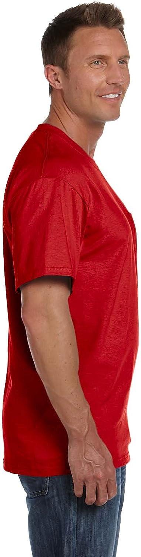 3931P -TRUE RED-XL-4PK 100/% Heavy Cotton HD Pocket T-Shirt Fruit of the Loom mens 5 oz