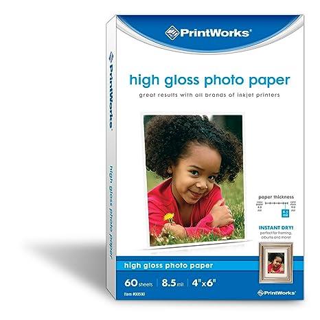 Amazon.com: Printworks Alto Brillo Papel Fotográfico, 8.5 ...