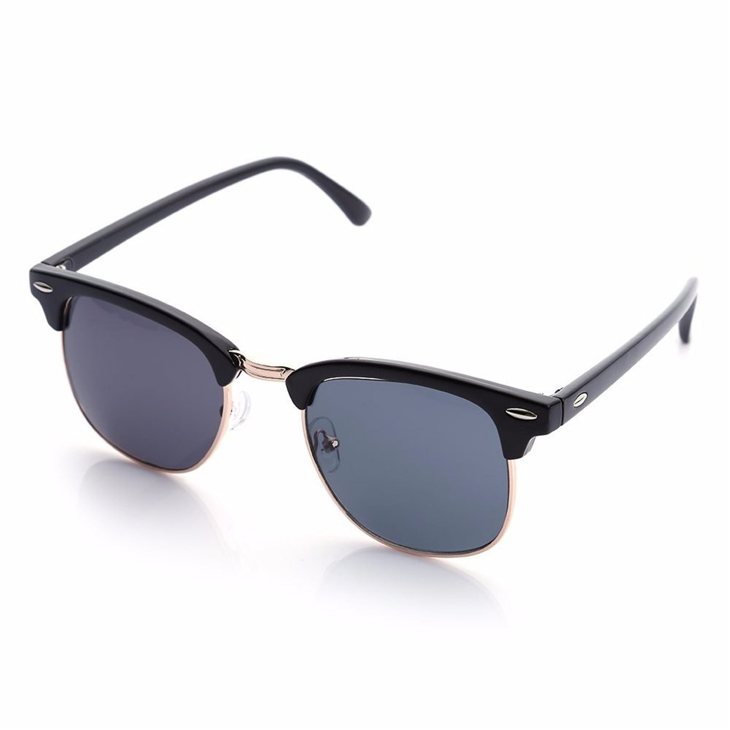 Amazon.com: Half Metal Sunglasses Men Women NEW Brand ...