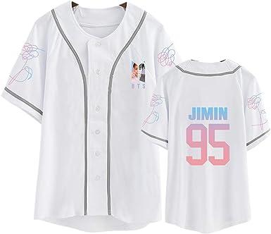 DHSPKN BTS Love Yourself Jersey Bangtan Boys Jungkook Jimin Suga V Baseball T-Shirt