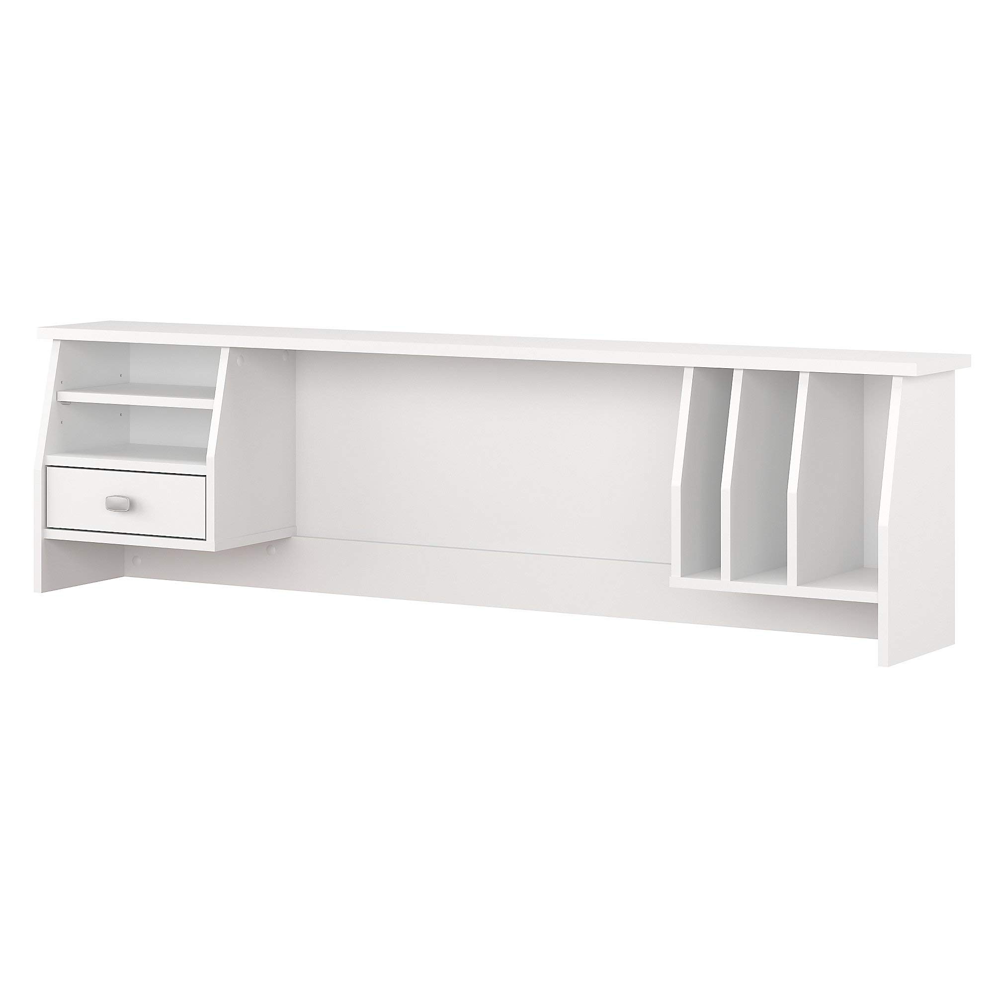Bush Furniture Broadview Small Hutch Organizer for 60W Desk in White