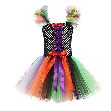 K-Youth Disfraz Halloween Navidad Vestidos Niña Tul Princesa ...
