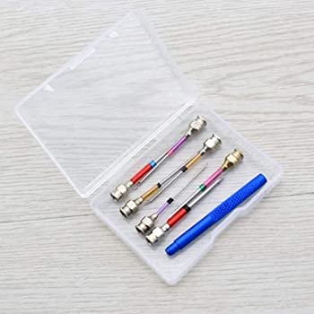 Psunrise 8PCS Common Interchangeable Head Full Model Embroidery Pin Magic Embroidery Pen 8PCS, Multicolor