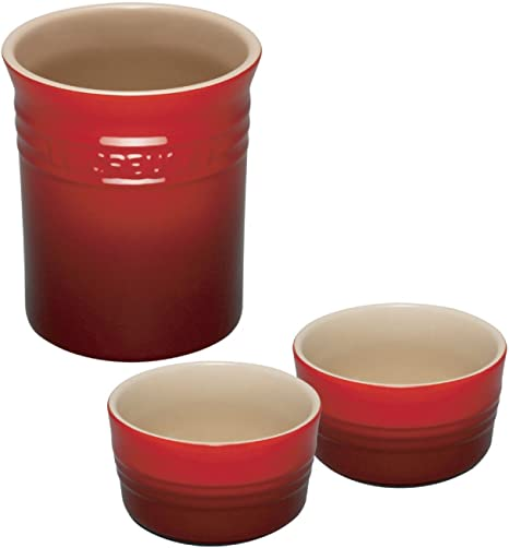 Almond 1.1 Litres Le Creuset Stoneware Small Utensil Jar 71501114810001