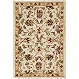 """Safavieh Chelsea Collection HK78C Hand-Hooked Ivory Premium Wool Area Rug (2'6"""" x 4')"""