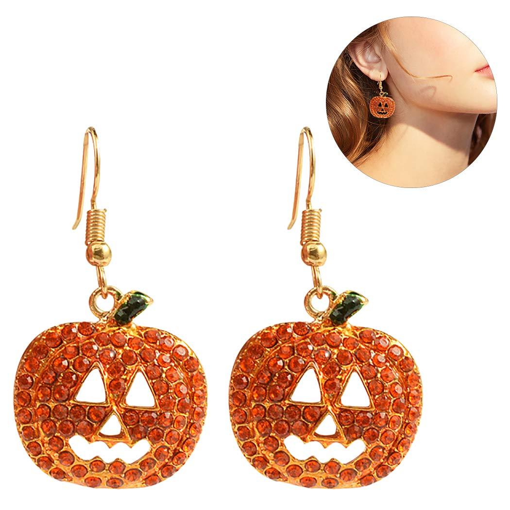 Zoylink Pumpkin Earrings Halloween Earrings Drop Earrings for Women