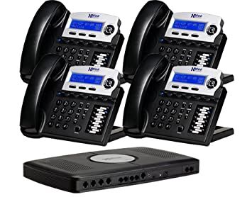 Amazon.com : X16 6-Line Small Office Phone System with 4 Charcoal ...