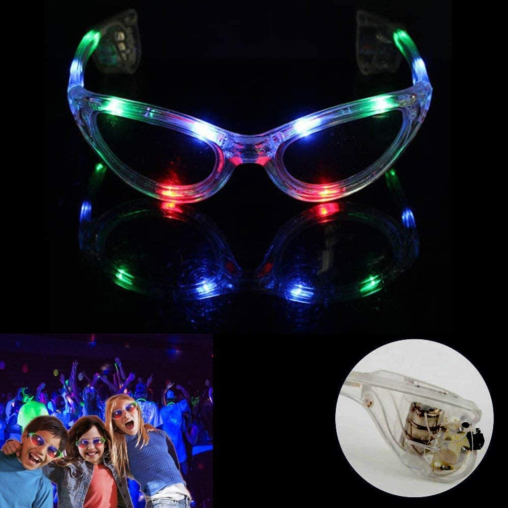 Time4fun Leisure Products Bright Black Flashing Leds Both Light Up Sunglasses