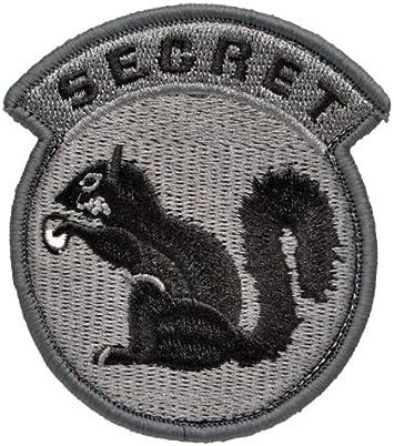 Secreta de la ardilla parche emblema militar Sabage Velcro gris: Amazon.es: Juguetes y juegos