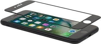 StilGut Protection d'écran 3D en verre trempé pour Apple iPhone 8 & iPhone 7. Protection en verre trempé ultra-resistante transparente et incurvée avec bordure noire