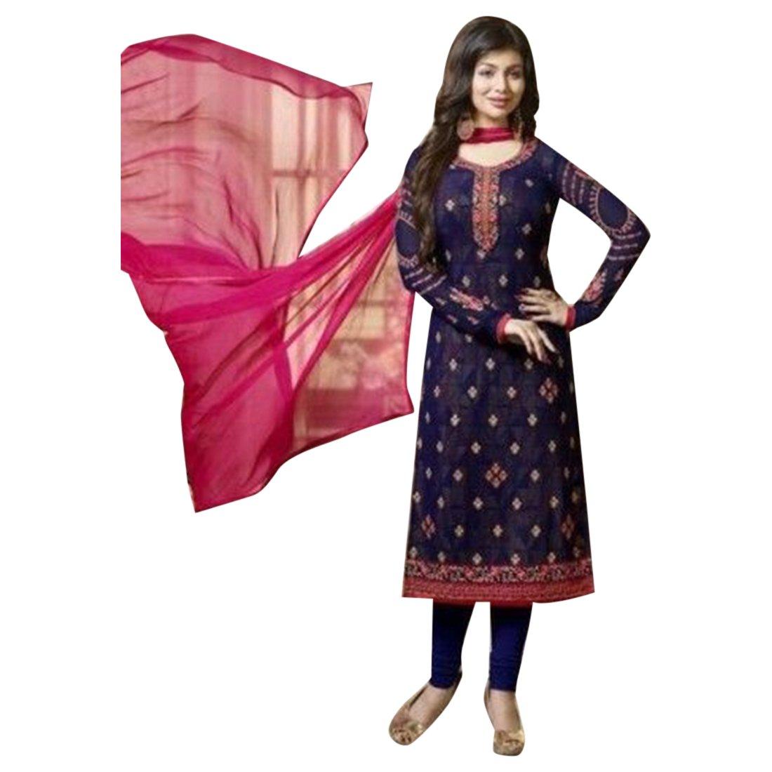 Blue Indio paquistaní Straight Salwar Mujeres Kamiz Kameez ...