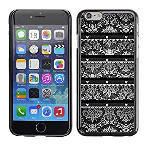 Paccase / SLIM PC / Aliminium Casa Carcasa Funda Case Cover para - Wallpaper Old Gray Black White - Apple Iphone 6 Plus 5.5