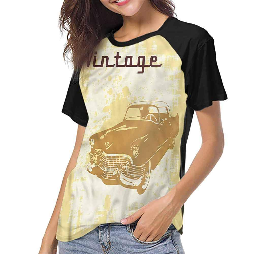 Casual T Shirts,Cars,Red Dragster Automobile S-XXL Tee Tshirts Women