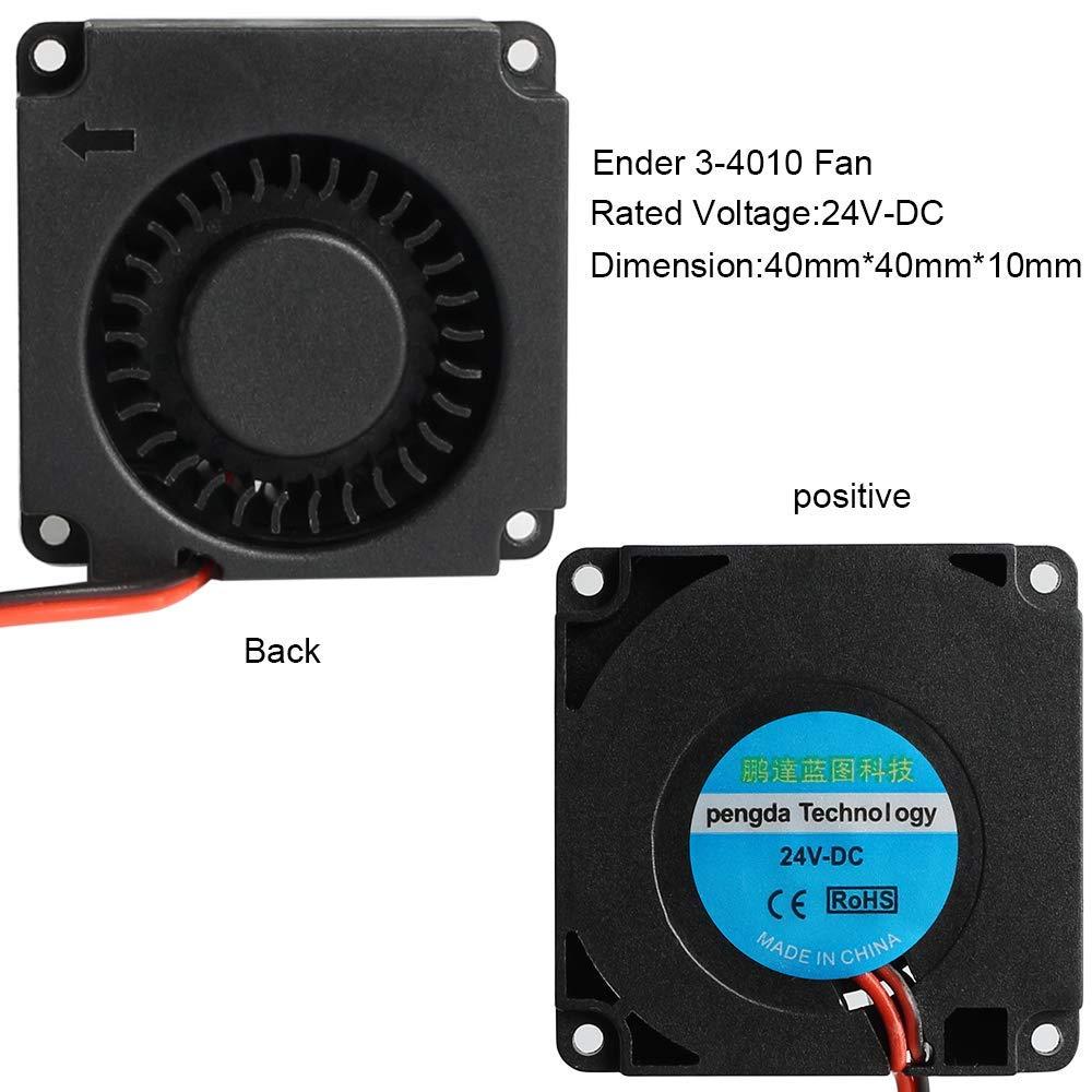 4010 Fan 24v Ventilador 40x40x10MM Ventilador de enfriamiento de ...