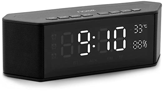 Noise Mate 10W Alarm Clock Wireless Speaker  Black  Alarm Clocks