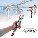 LULUME Automatic Spring Fishing Rod Holder Stainless Steel Rod Stand Rod Holder for Bank Fishing Smart Adjustable Auto Fish C