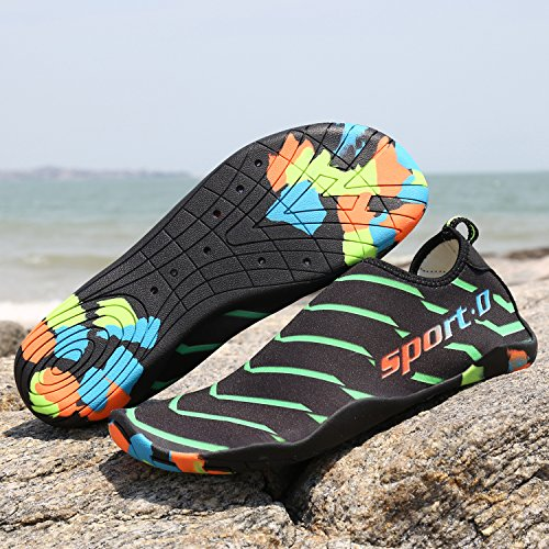 Water Swim Sports Womens Mens Yoga Beach Outdoor Unisex and Surf for Socks Summer Green Shoes Aqua Exercise xYdqpX7f