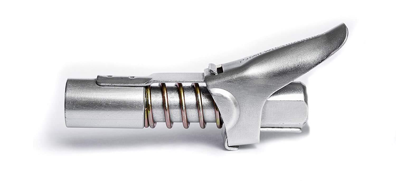 JMF Laccoppiatore per Pistola ingrassatrice blocca la Doppia Impugnatura ad Alta Pressione su Qualsiasi Raccordo Zerk di Lunga Durata