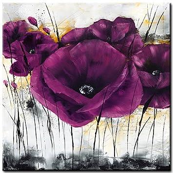 Pavot violet III  - Mohnblumenbild von Isabelle Zacher-Finet  - Plexiglasbild  - Acrylglas  - Fertigbild direkt zum