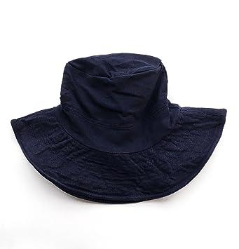 WJCGX Sombreros para Parejas Gorros De Pesca Ocio Color Sólido Ollas Sombreros  Gorras Sombreros De Viaje adab828a4efd