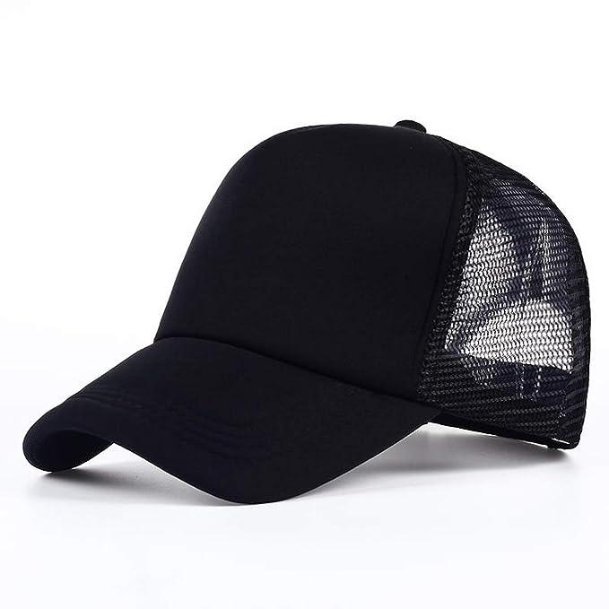 27900c841f4f 6 Color Mens Plain Trucker Hats for Spring Summer Womens Blank Mesh Caps Men  Foam Net