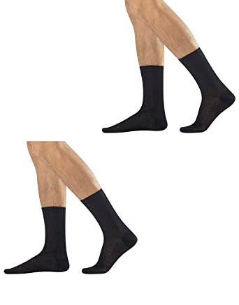 b23514617f9f6 CALZITALY 2 Pairs Men Cotton Suit Socks |7/9, 9/10, 11/12 | Blue ...