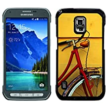 Super Stellar Slim PC Hard Case Cover Skin Armor Shell Protection // V00002570 Bike Red // Samsung Galaxy S5 Active SM-G870A (Not Fit S5)