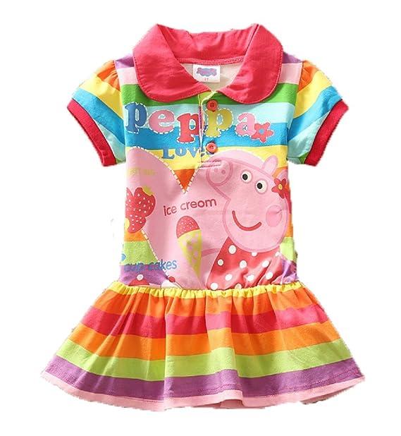 41af9786dd Amazon.com  Yuting Little Girls  Summer Peppa Pig Dress