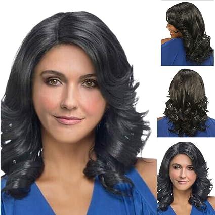 Angelof - Peluca natural para mujer, sin piojos, encaje de pelo ...