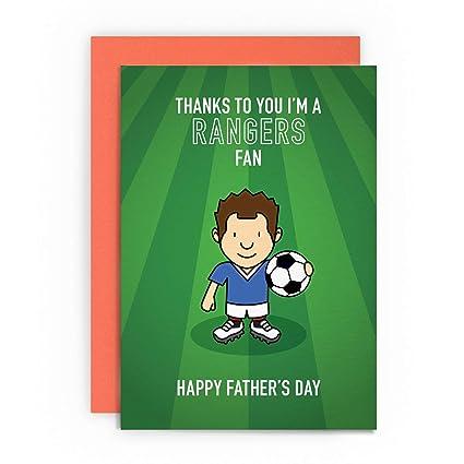 Tarjeta de felicitación para el día del padre de Glasgow ...