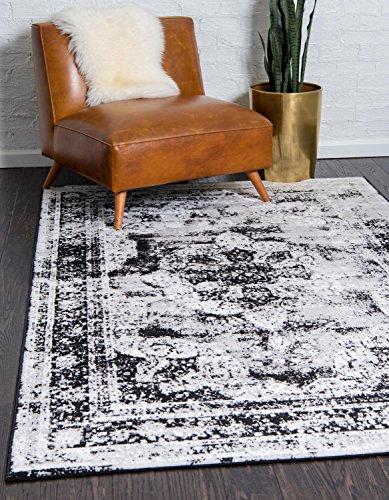 Unique Loom 3137798 Sofia Collection Traditional Vintage Beige Area Rug, 8' x 10' Rectangle, Black (Area 8x10 Rug Black)