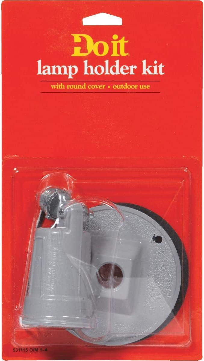 Do it Gray Single Weatherproof Outdoor Lamp-holder
