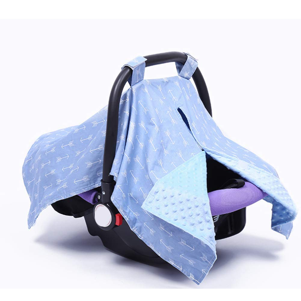 2 in 1 Carseat Canopy and Nursing Cover Up with Peekaboo OpeningLarge Infant