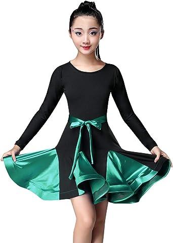Happy Cherry Girl Latin Dance Dress Salsa Dress Niños Spandex ...