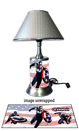 Captain America Lamp With Chrome Shade, Marvel