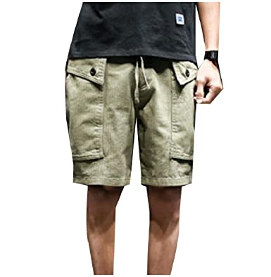 2dc3c6febb7 Tootless Men s Plus-Size Custom Fit Pure Color Short Tactical Pants Army  Green S