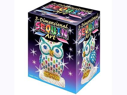 Sequin Art 3D, Owl, Sparkling Arts and Crafts 3D Art Kit